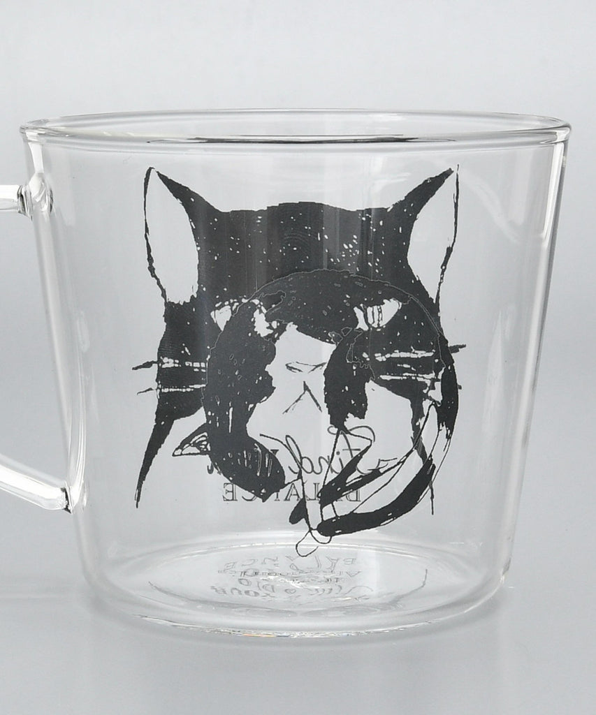 Glass Mug Cup Cat Afternoon Tea Japan