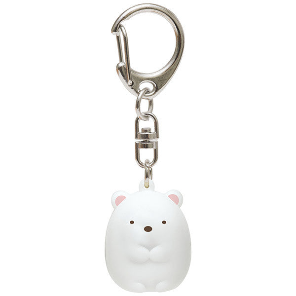 Sumikko Gurashi Shirokuma Bear Bell Keychain Key Holder San-X Japan