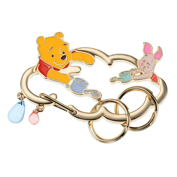 Winnie the Pooh & Piglet Keychain Carabiner Pooh's Day Disney Store Japan