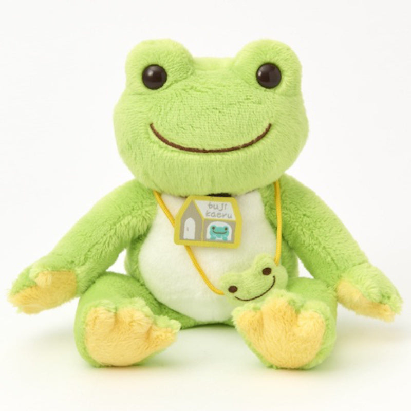 Pickles the Frog Bean Doll Plush Come Home Safely Bujikaeru Japan