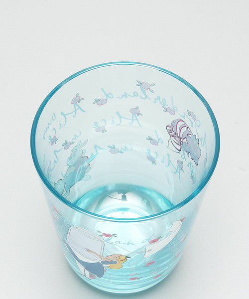 Alice in Wonderland Clear Cup Tumbler Light Blue Afternoon Tea Japan Disney
