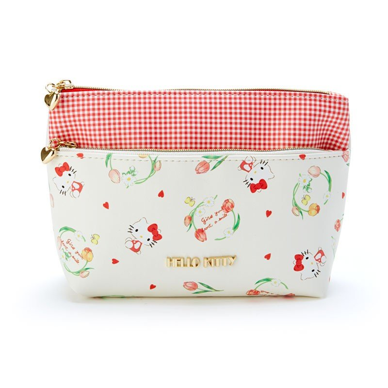 Hello Kitty 2Stage Pouch HAPPY SPRING Sanrio Japan