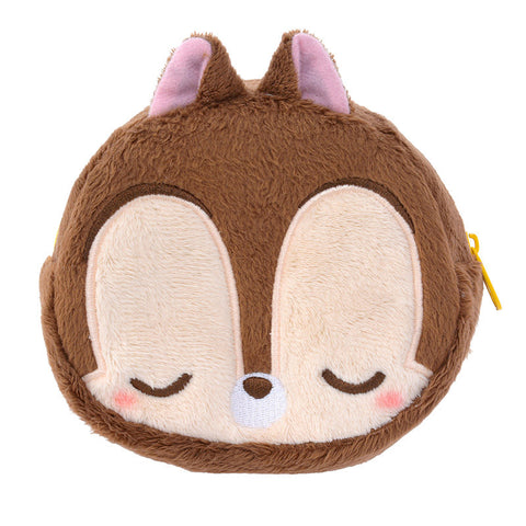 Circle Zipper Pouch Sleeping Chip Disney Store Japan