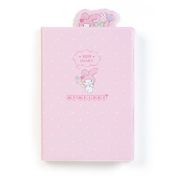My Melody 2019 Schedule Book Diary A6 Weekly Block Bookmark Sanrio Japan