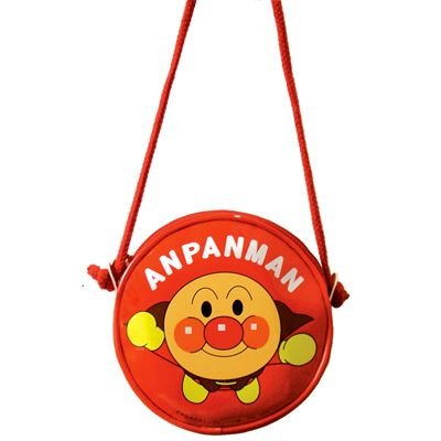 Anpanman Round Pochette Bag Red Japan Kids ANA-1200