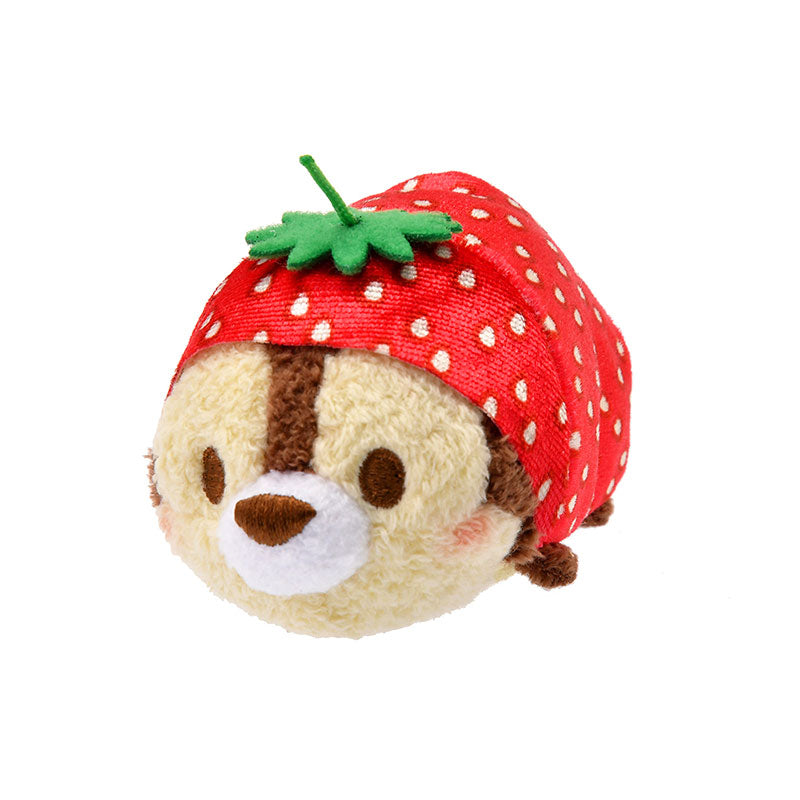 Chip Tsum Tsum Plush Doll mini S Strawberry Disney Store Japan