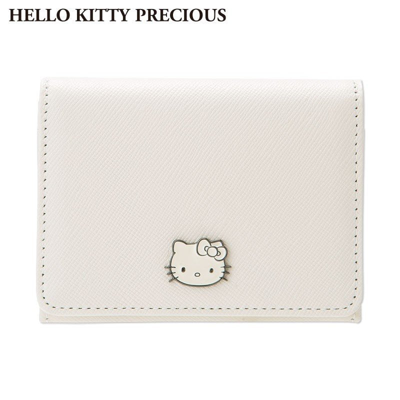 50d88f83bdfe Card Case Genuine Leather Off White HELLO KITTY PRECIOUS Sanrio Japan With  Box