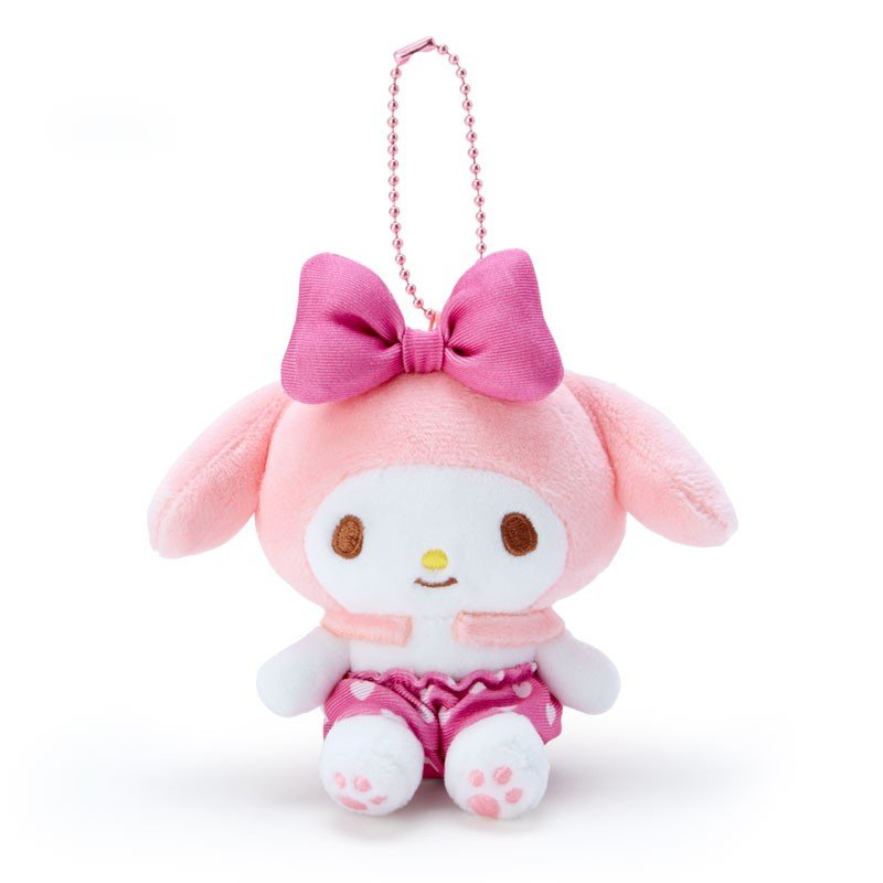 My Melody Plush Mascot Holder Keychain Pink Recommend Color Sanrio Japan