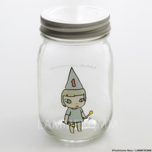 Yoshitomo Nara Glass Storage Jar M Girl 1 Blue Japan Art