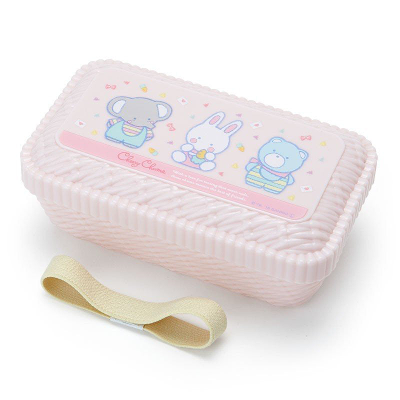 Cheery Chums Lunch Box Bento Rattan Basket Style Sanrio Japan