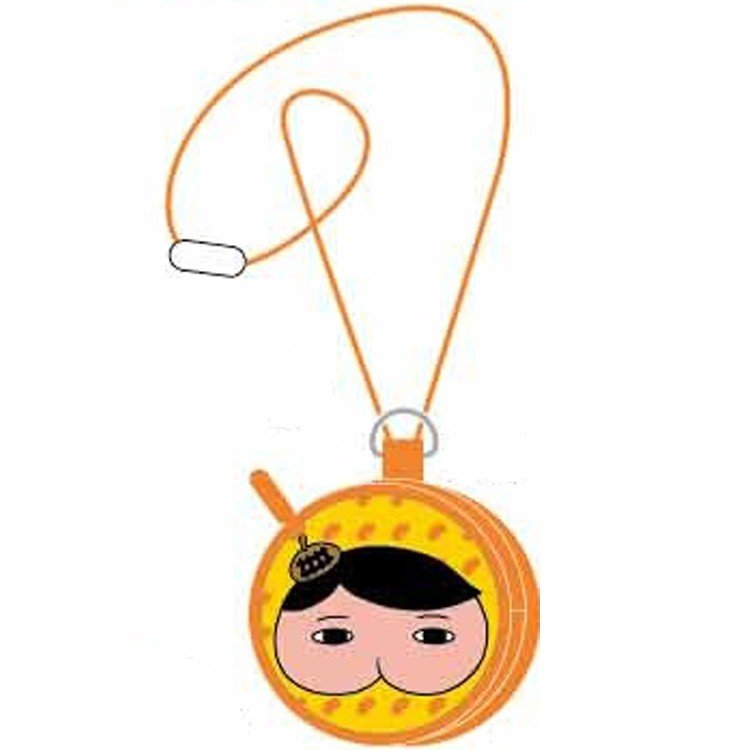 Oshiritantei Butt Detective Coin Case Pouch Neck Strap A Orange Japan