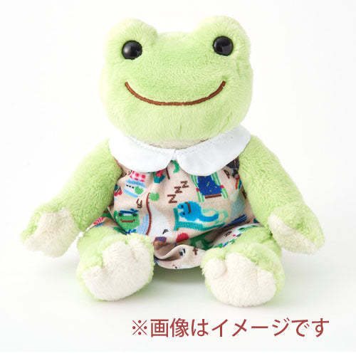 Pickles the Frog Costume for Bean Doll Plush Short sleeve dress Sewing Japan