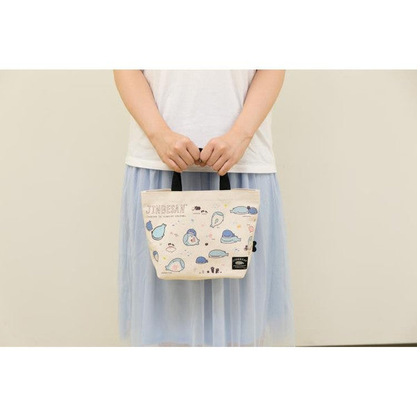 Jinbei San Whale Shark mini Tote Bag with Swaying Root Kelp San-X Japan