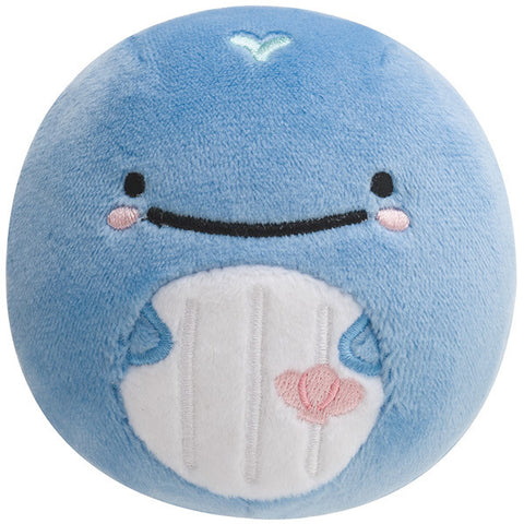 Kokujira Whale Round Plush Doll Face Super Soft Mocchi San-X Japan Jinbei San