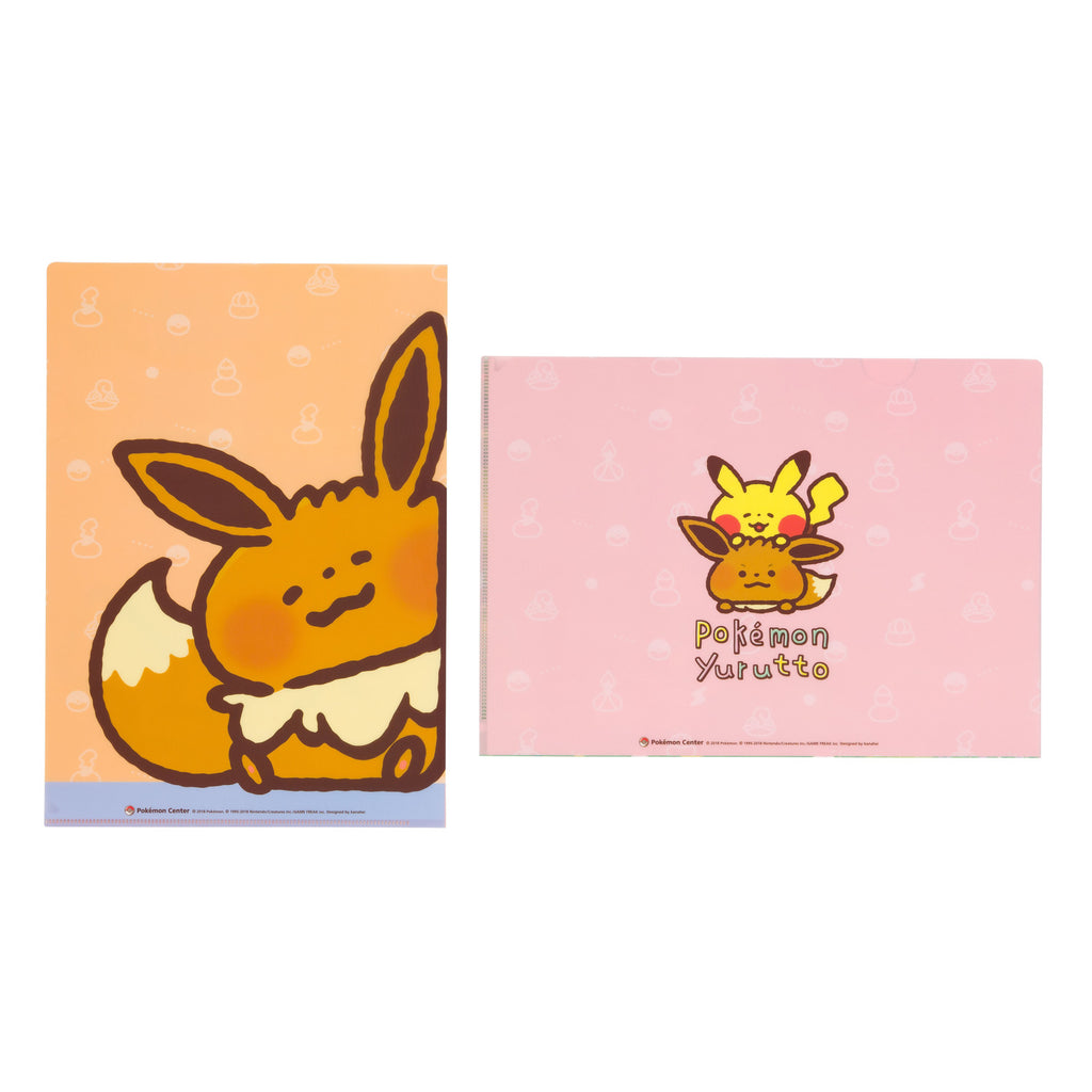 Pikachu Eevee Eievui File Holder Set A4 Perfect Outing Day Pokemon Yurutto Japan