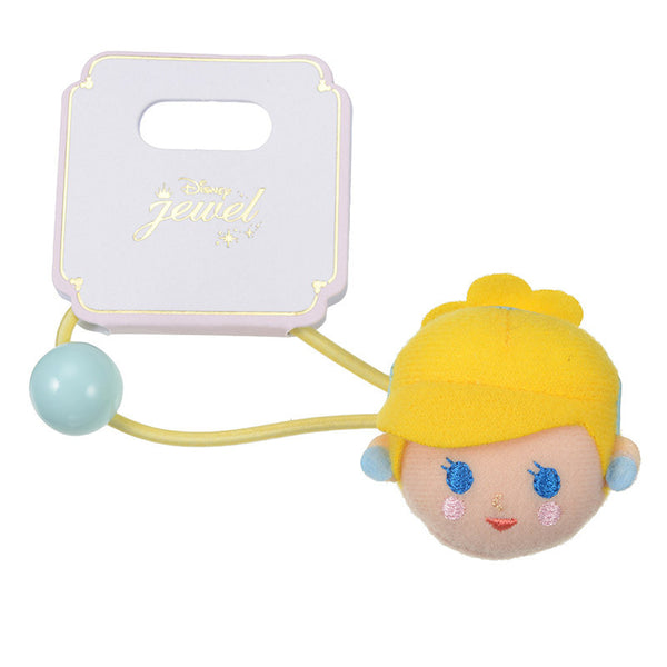 Cinderella Ponytail Holder Plush Deformed Disney Store Japan Hair Accessory