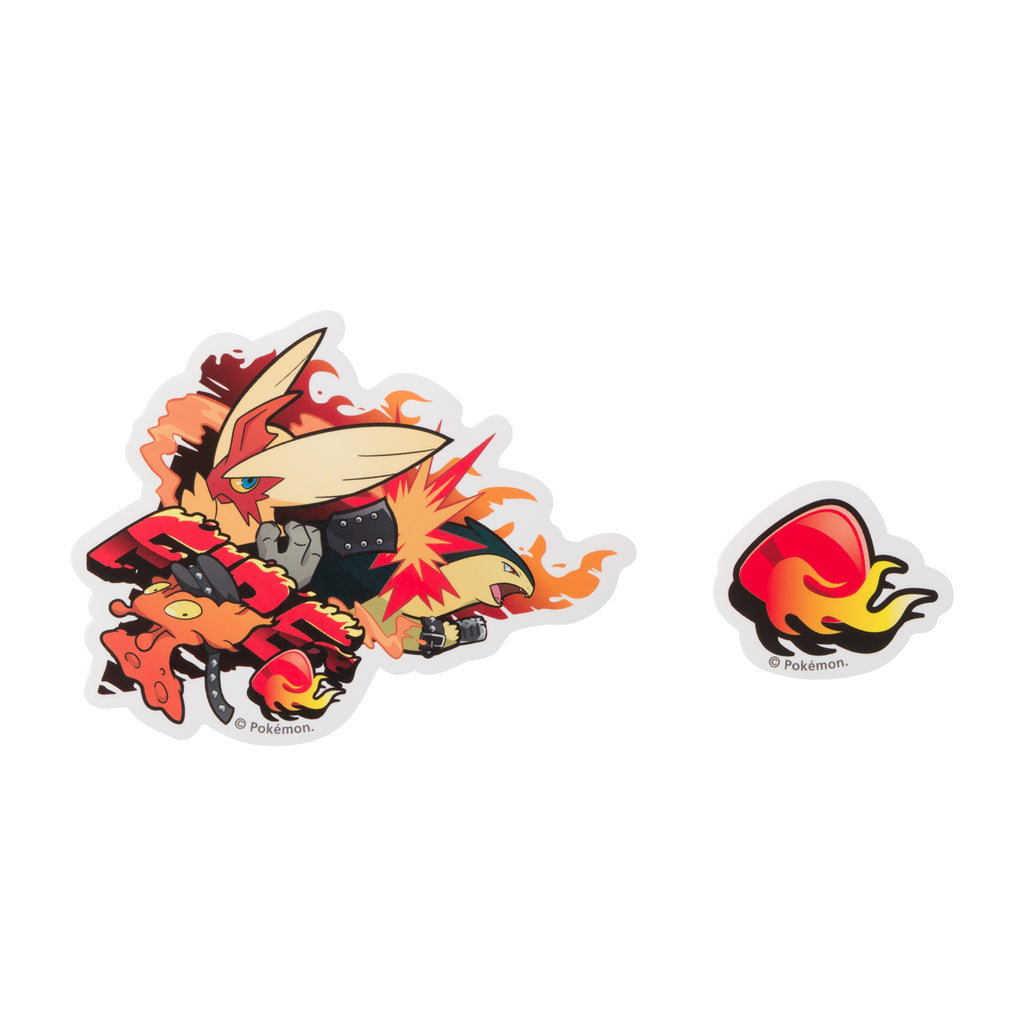 Blaziken Slugma Typhlosion Sticker FI Band Festival Pokemon Center Japan