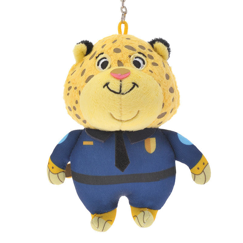 Zootopia Clawhauser Plush Key Chain Badge Disney Store Japan