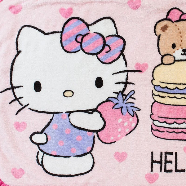 Hello Kitty Boa Blanket Heart Sanrio Japan