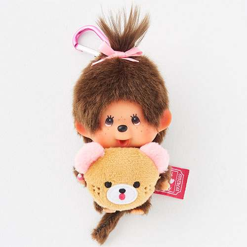 Monchhichi Plush Keychain SS Girl HAPPY TRIP MONCHHICHI Japan
