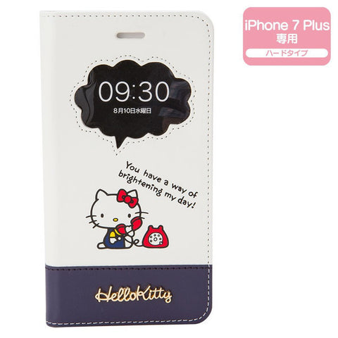 Hello Kitty iPhone 7 Plus Case Cover Hard Window Sanrio Japan