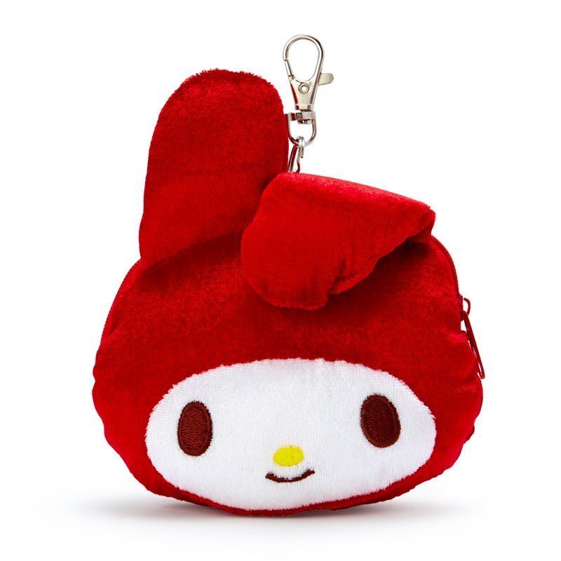 My Melody Plush Pass Case Bent Ear Red Sanrio Japan