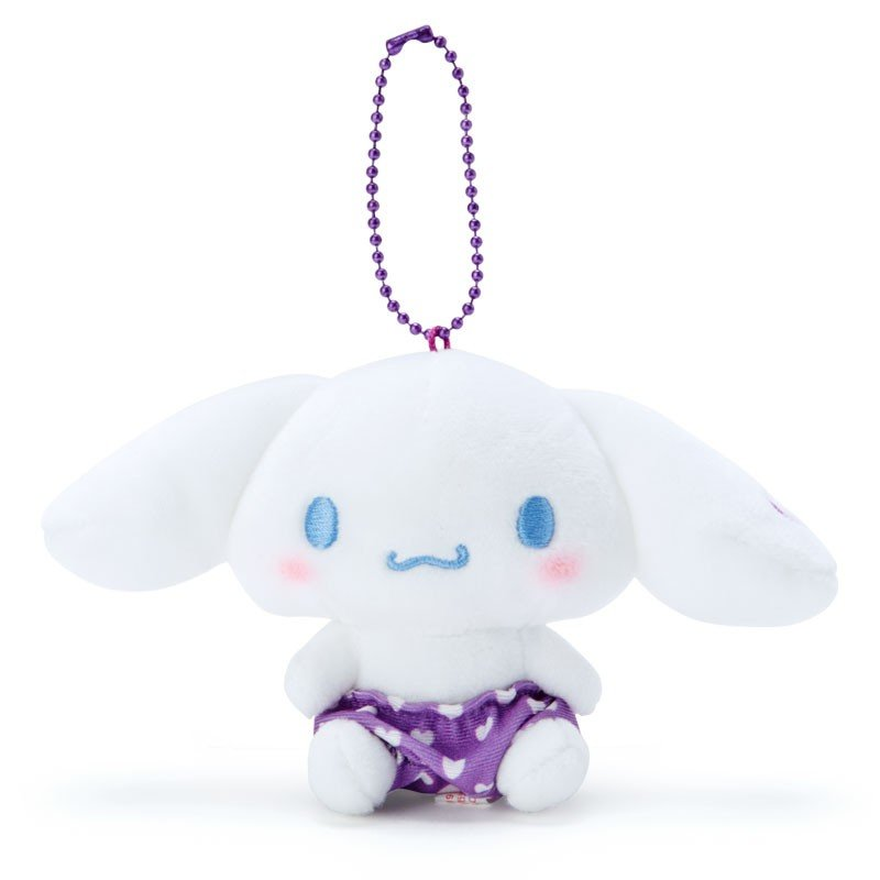Cinnamoroll Plush Mascot Holder Keychain Purple Recommend Color Sanrio Japan