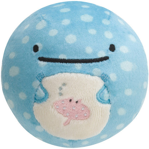 Jinbei San Whale Shark Round Plush Doll Face Super Soft Mocchi- San-X Japan