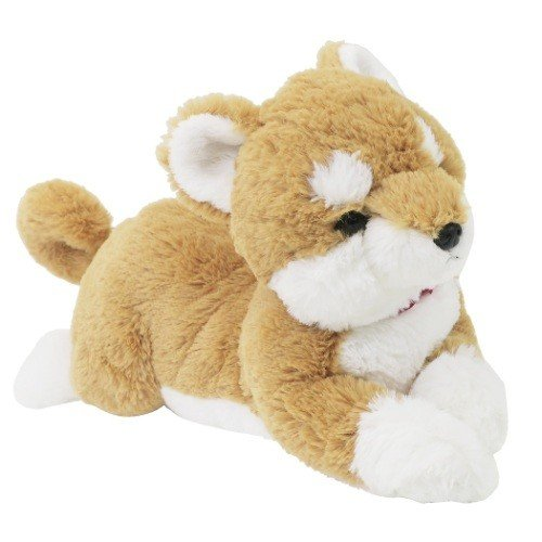 Hizawanko Knee Dog Shiba Inu Warm Plush Doll Sunlemon Japan