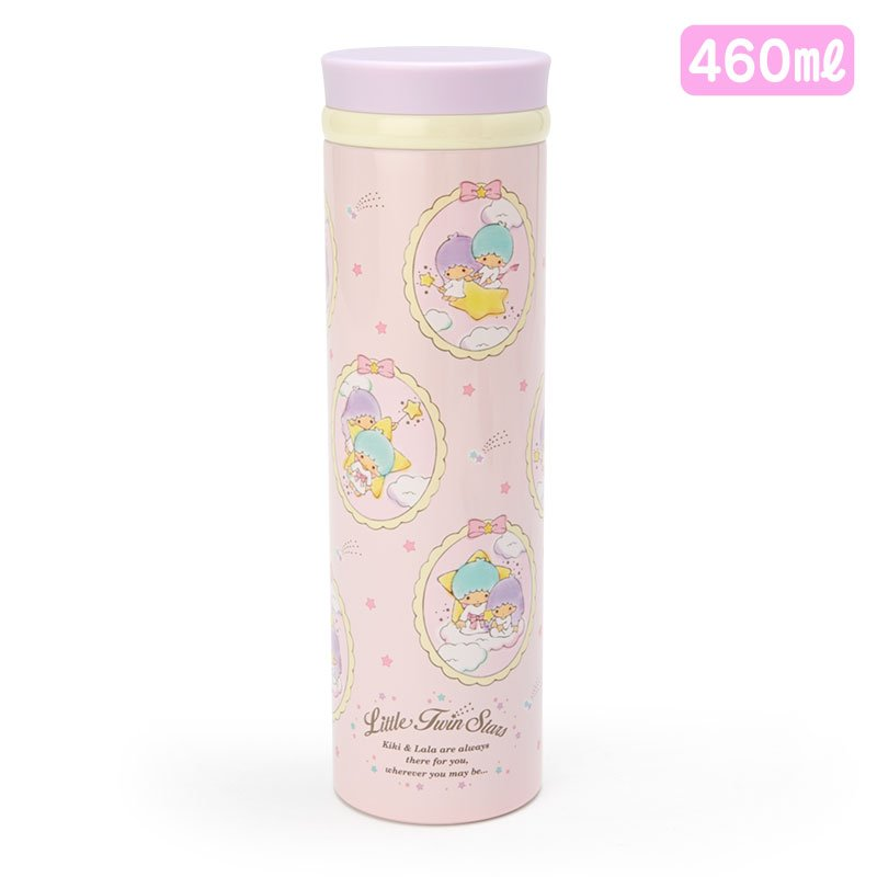 Little Twin Stars Kiki Lala Stainless Bottle 460ml Sanrio Japan
