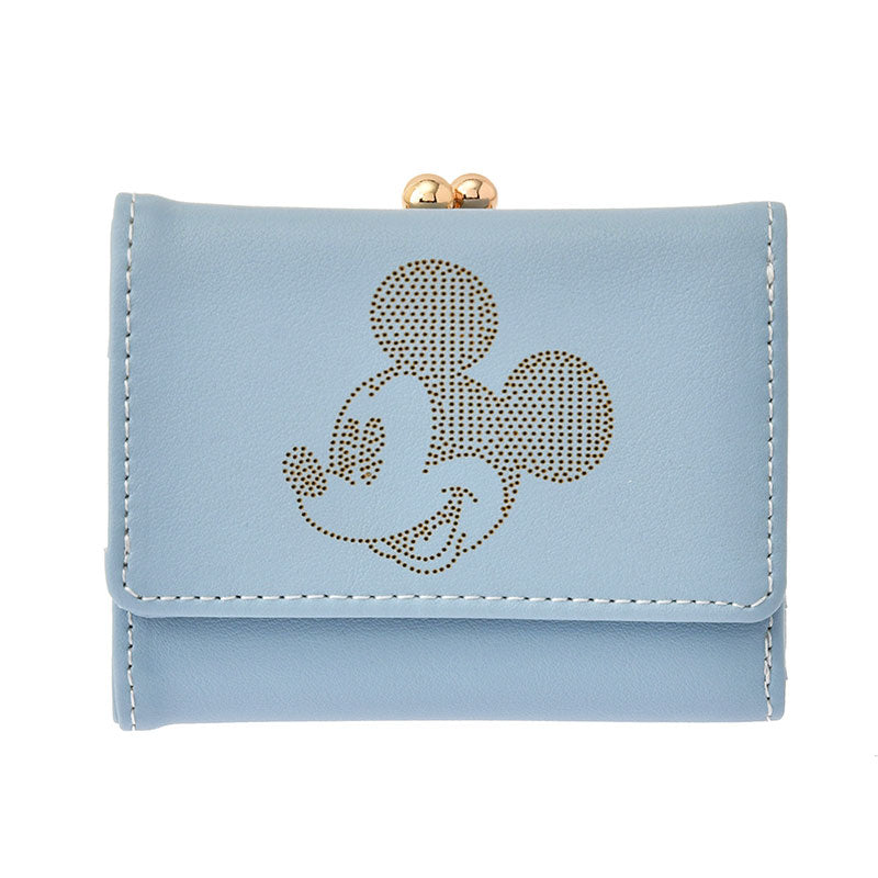 Mickey Wallet Blue Gray Oshigoto Work Disney Store Japan
