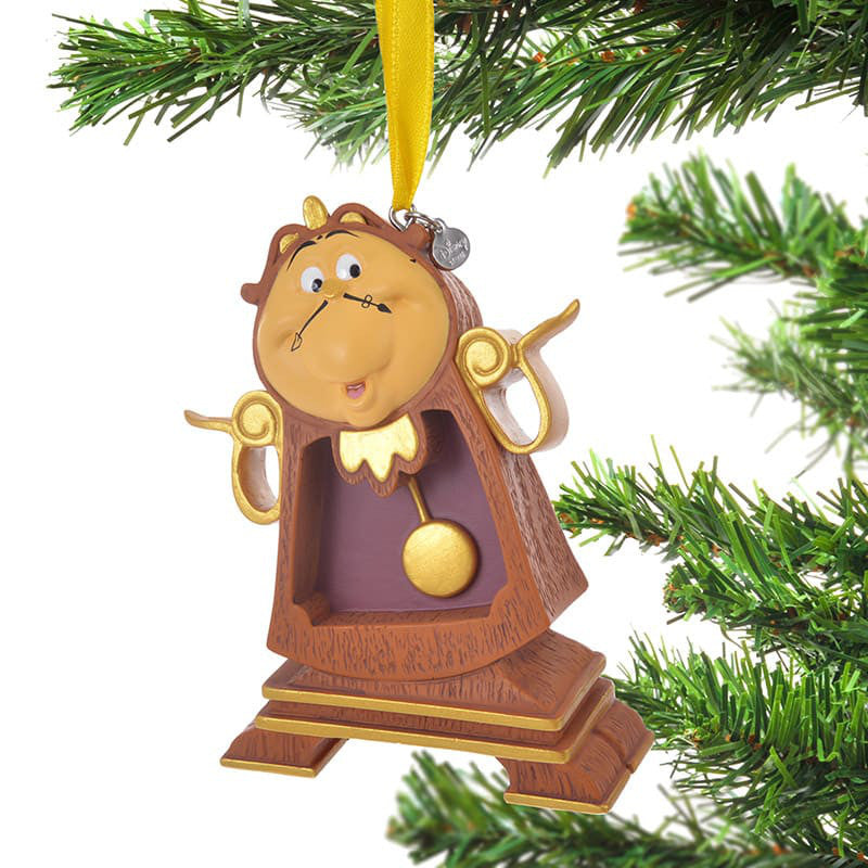 Beauty and the Beast Cogsworth Christmas Tree Ornament Disney Store Japan 2018