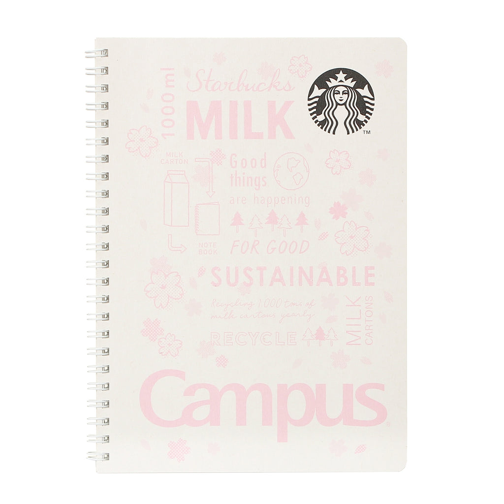 Campus Ring Notebook White SAKURA 2021 Starbucks Japan