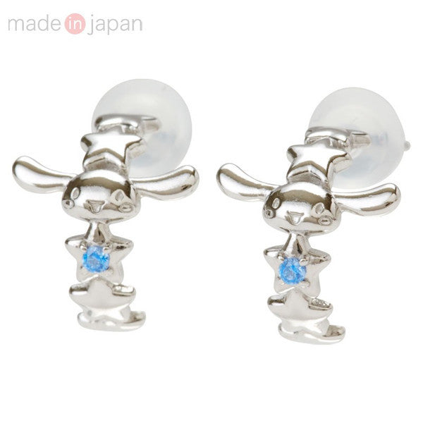 Cinnamoroll Silver Piercing Earrings Cubic Sanrio Japan
