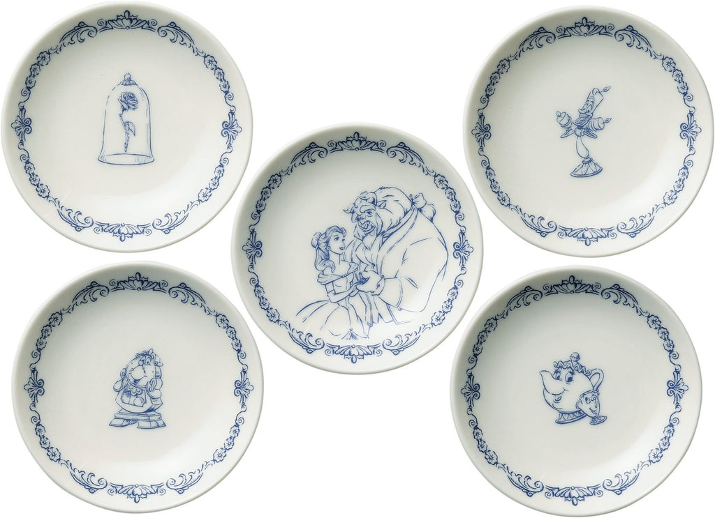 Beauty and the Beast mini Plate 5pcs Set D-BB03 51074 Disney Japan