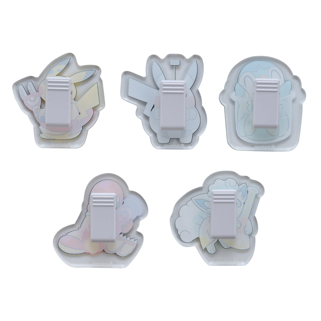 Robot Pikachu Acrylic Clip 5pcs Set Science Man Pokemon Center Japan Original