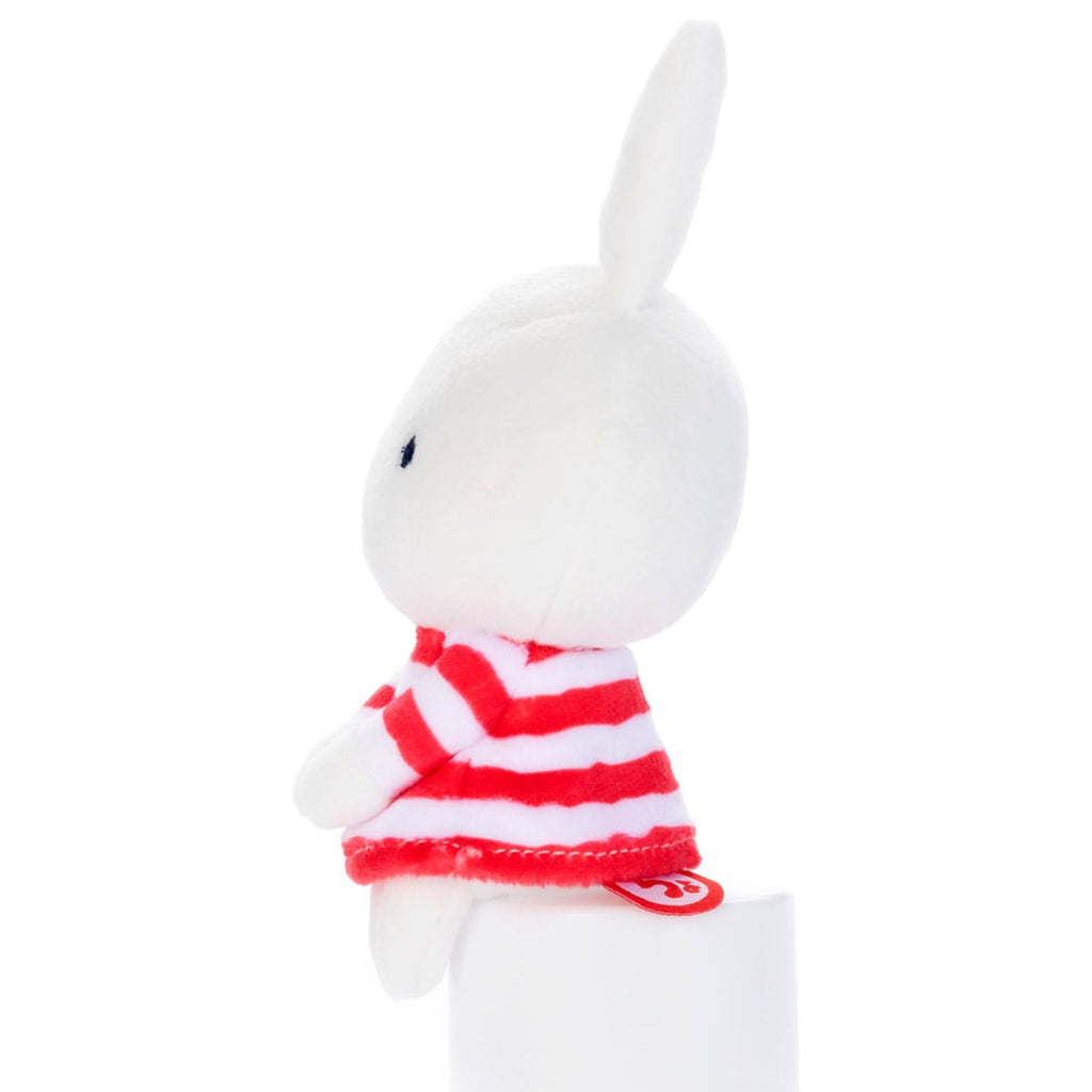 Miffy Chokkirisan mini Plush Doll Stripes Red Takara Tomy Japan