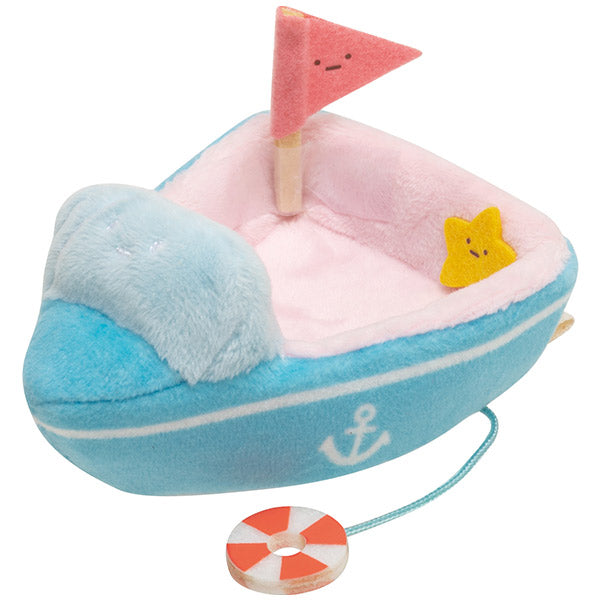 Sumikko Gurashi mini Tenori Plush Doll Outing Leisure Boat San-X Japan