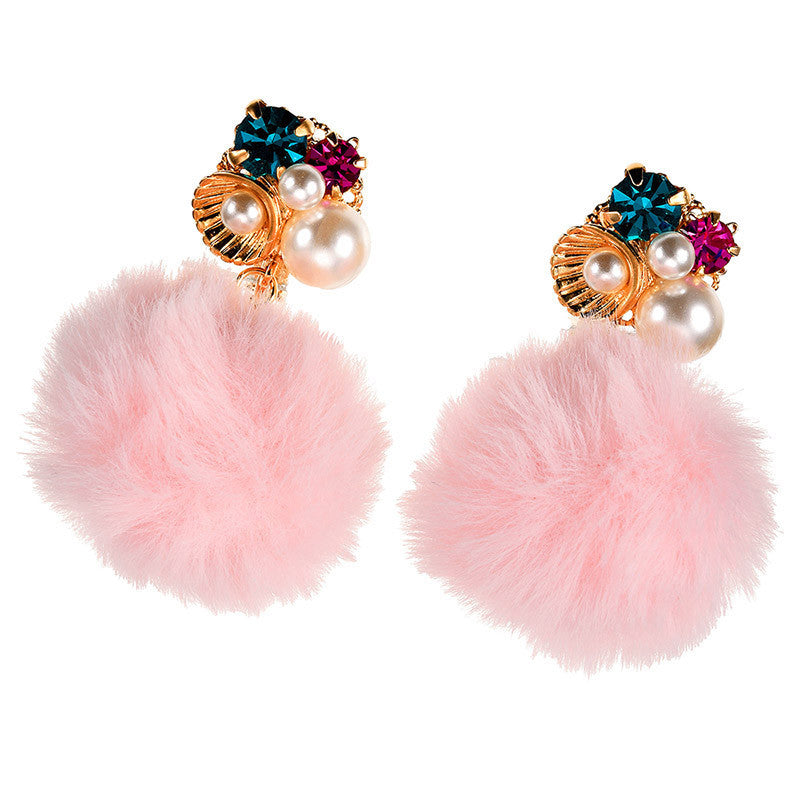 Little Mermaid Ariel Fake Fur Non Pierced Earring Grace Disney Store Japan