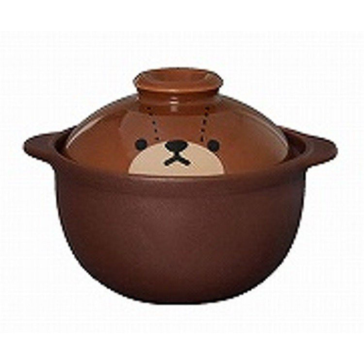 Jackie Earthen Pot For one person Jackie Color Face the bears' school Japan
