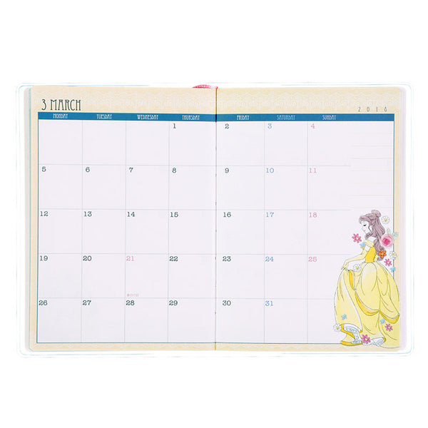 Princess Tinker Bell 2018 Schedule Notebook A6 Monthly Girlish Disney Japan