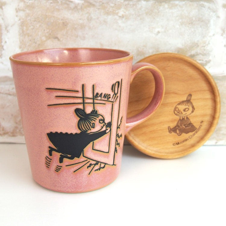 Little My Stoneware Mug Cup with Wood Coaster Lid MOOMIN Japan