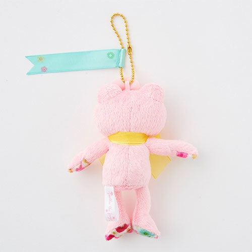 Pickles the Frog Plush Keychain Pink Flower Parede Japan