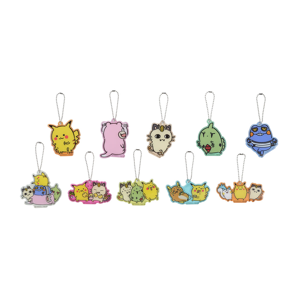 Pikachu Acrylic Bag Charm 10 pcs Full Set BOX 24 Hours Pokemon CHU Japan