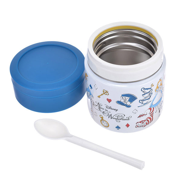 Alice in Wonderland Stainless Food Pot ALICE PARTY Disney Store Japan