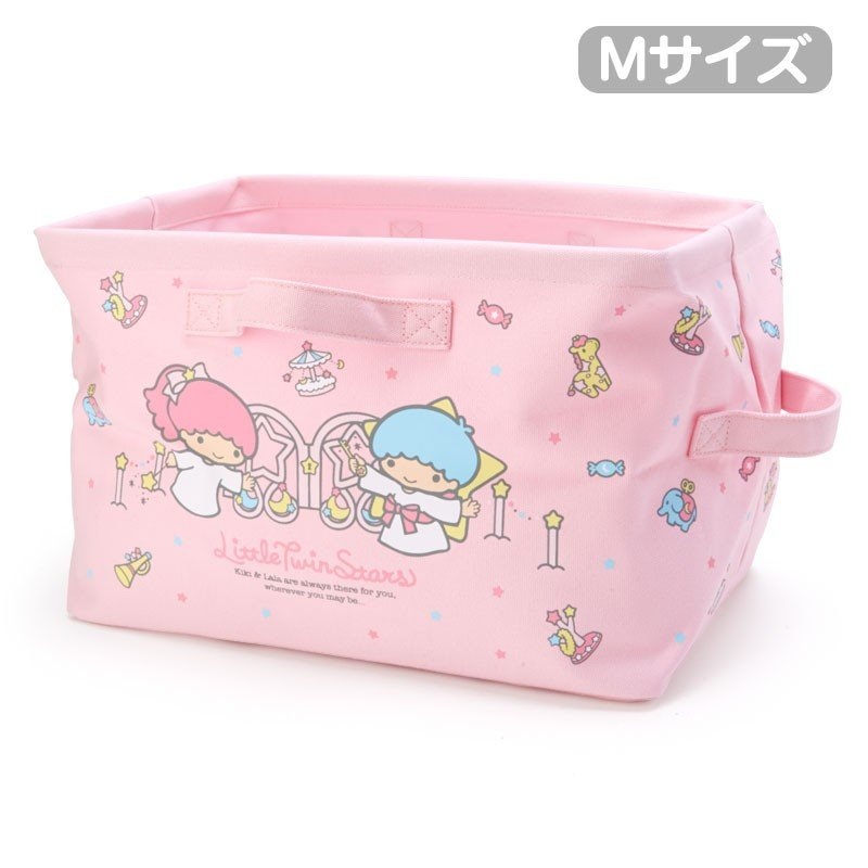 Little Twin Stars Kiki Lala Canvas Storage Box M Sanrio Japan