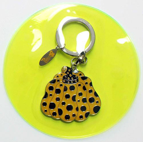 Yayoi Kusama Pumpkin Key Ring Keychain Yellow Japan Artist
