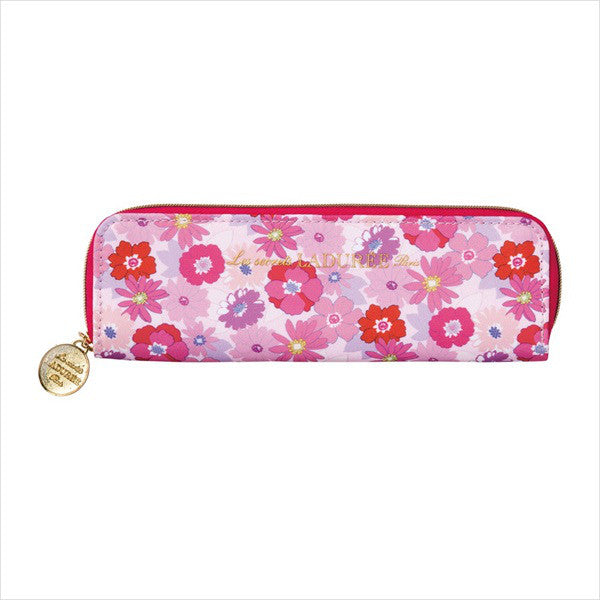 Pen Case Pencil Pouch Mathilde Flower Pink Laduree Japan