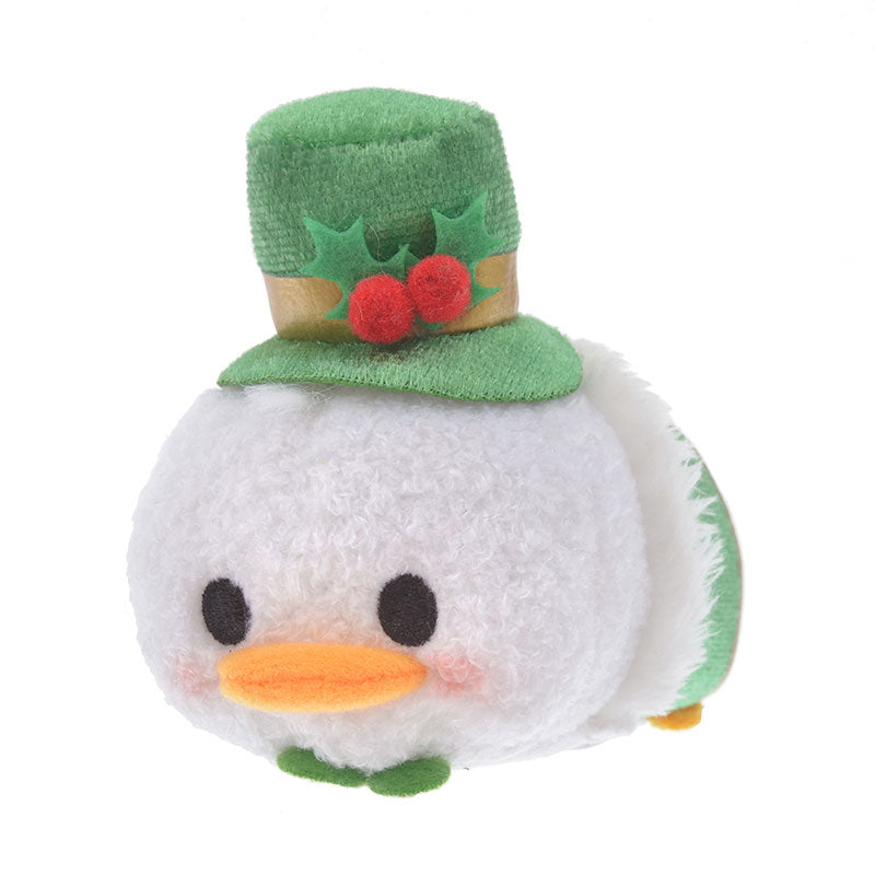 Donald Tsum Tsum Plush Doll mini S Holly Disney Store Japan Christmas 2019