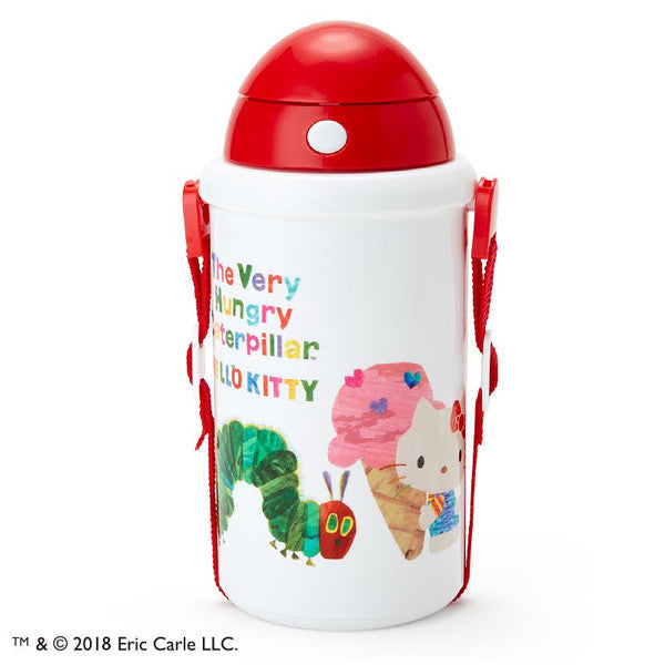 Hello Kitty The Very Hungry Caterpillar Cold Straw Bottle Sweet Sanrio Japan